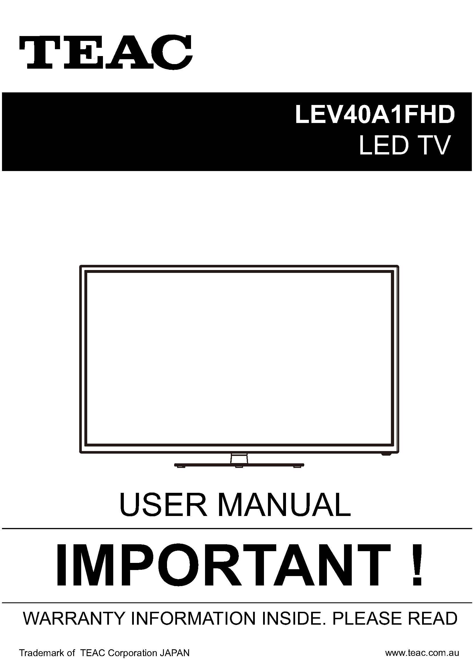 TEAC LEV40A1FHD_User_Manual